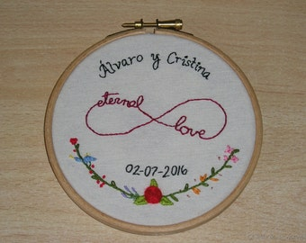Embroidered Eternal love