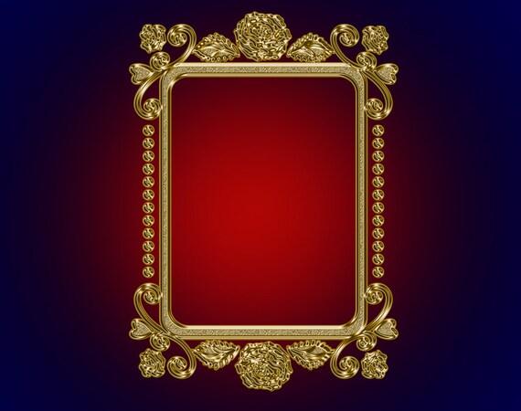 Digital Frames Clipart Gold Ornate Luxury Vintage Frame