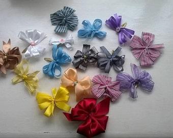 Handmade hair clip bows
