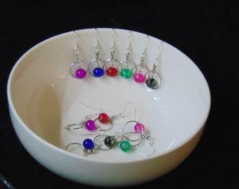 Drop Earrings, Silver Earrings, Hoop Earrings, Silver Hoop Earrings