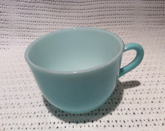 Pyrex JAJ Weardale Duck Egg Blue 1960's with Gold Edge Tea Cup