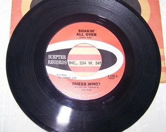 """1960's Hit 45 rpm Record By The Guess Who, """"Shakin' All Over"""""""