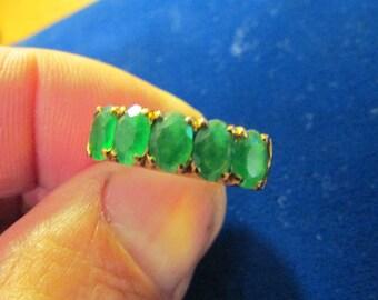 18K 5 Emerald Ring