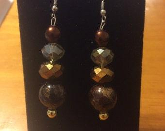 Charming chocolate crystal dangles
