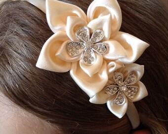 Ivory Bridesmaid hair band, Bridesmaid hair accessories, Bridesmaid Hair piece, Headband, Bridal, Wedding, flower girl, First Communion