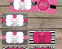 Business Card - Digital File - Direct Sales Business Marketing- Perfecly Posh business card - Printable DIY Digital Download- DesignsCandy