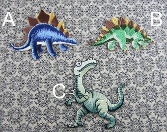 Dinosaur Iron on Applique, Embroidered Patch Sticker