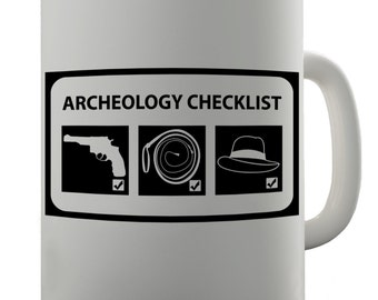 Archaeology Checklist Ceramic Mug