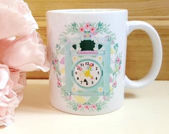 Mug shown clock blue Polly Pocket