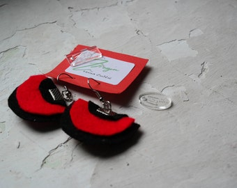 Lagenlook Earrings jewellery, Designer rubber jewelry, Earrings in handmade. - N006