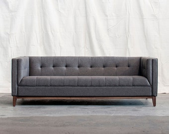 Landon sofa,sofa,midcentury modern sofa, mid century modern sofa, couch, mid century modern sofa in a grey, gark blue, cream