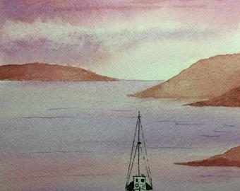 Sail Away - Watercolour