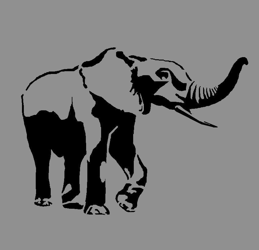 Elephant Stencil Reusa...