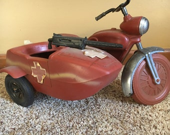 1970s G.I. Joe motorcycle with sidecar
