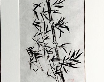 Bamboo, ink on rice paper