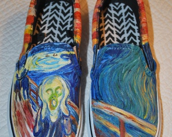 The Scream, Edvard Munch painted shoes
