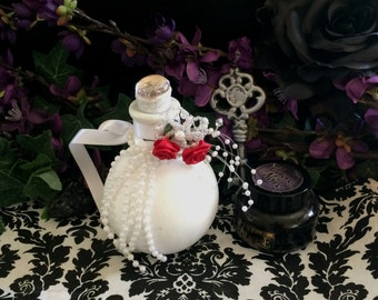 White Wedding - Witch Ingredient Jar Props and Decor