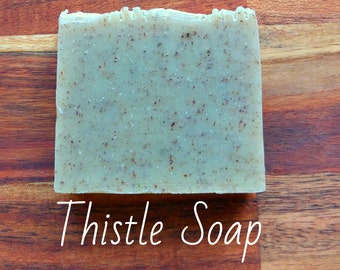 SOAP - Scottish Soap/ Thistle Soap -  Natural soap, Vegan soap, Jewish soap, Artisan soap, Handmade soap