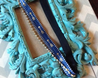 Rhinestone, tribal, headband, hip