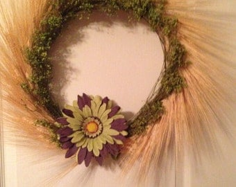 Sunny Natural Wheat Delight Wreath