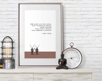 Oscar Wilde Quote - Poster Print - Mimicry