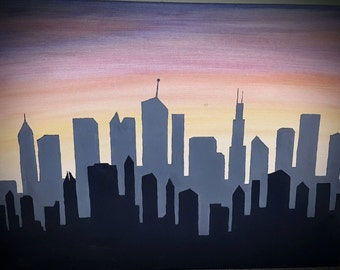 Shadow City Painting
