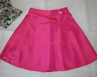 shantung silk skirt