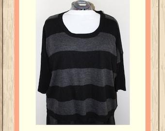 Black & Grey Stripe Sweater