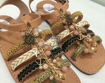 Leather sandals EU 38