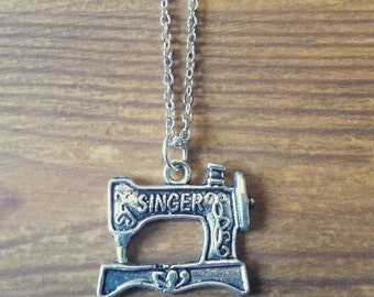 Sewing machine necklace pendant Singer