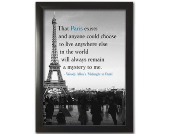 Midnight in Paris - Woody Allen inspired A4 print, Wall Art - FREE Shipping to UK.