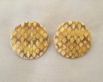 Vintage Genuine Rattlesnake Earrings