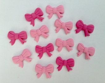 Fondant Edible Bows Cupcake Toppers