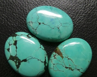 Natural Tibetan Turquoise Smooth Oval Shape Cabochon 30x22 MM Size 1 Piece Loose Gemstone Beads AAA Grade Quality #1289