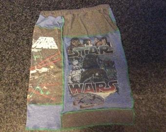 "Star Wars upcycled tshirt skirt, women's size:  Medium 33"" hips   25"" waist   21"" length"