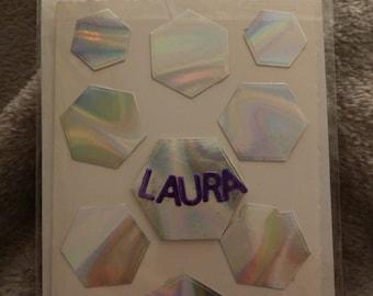 Rainbow hexagon card