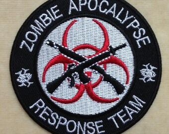 Zombie Apocalypse Response Team Iron On Patch