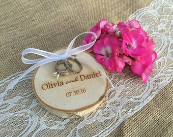 Ring Bearer Pillow Alternative, Ring Pillow Alternative, Ring Bearer Pillows, Personalized Ring Pillow Alternative, Rustic Ring Pillow