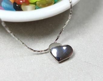 Heart Shape Necklace in Silver