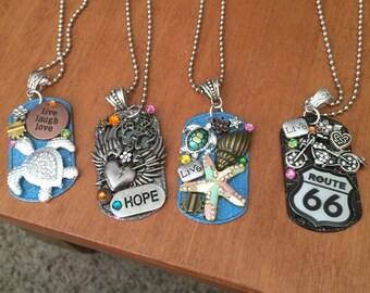 Dog tag necklaces