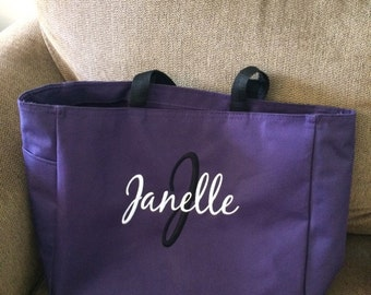 Personalized Embroidered Tote Bags Bridal Party Bridesmaid Gift