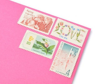 Forever Love Stamp Set - Vintage Postage Stamps for your wedding, event or every day mailings! Mint!