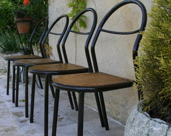 10 chairs R. HERBST vintage