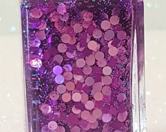 Purple Passion-hand made holographic glitter nail polish