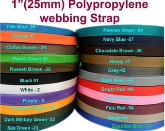 """25mm 1"""" color strong  polypropylene webbing strap"""
