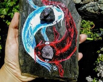 Koi Yin Yang Rock