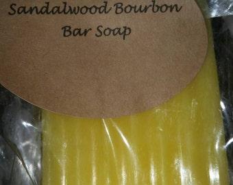 Paraben Free, Organic sandlewood bourbon bar soap