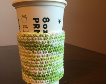 Multicolor crochet cup cozy