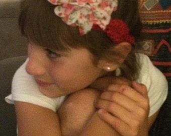 headband with fabric flower