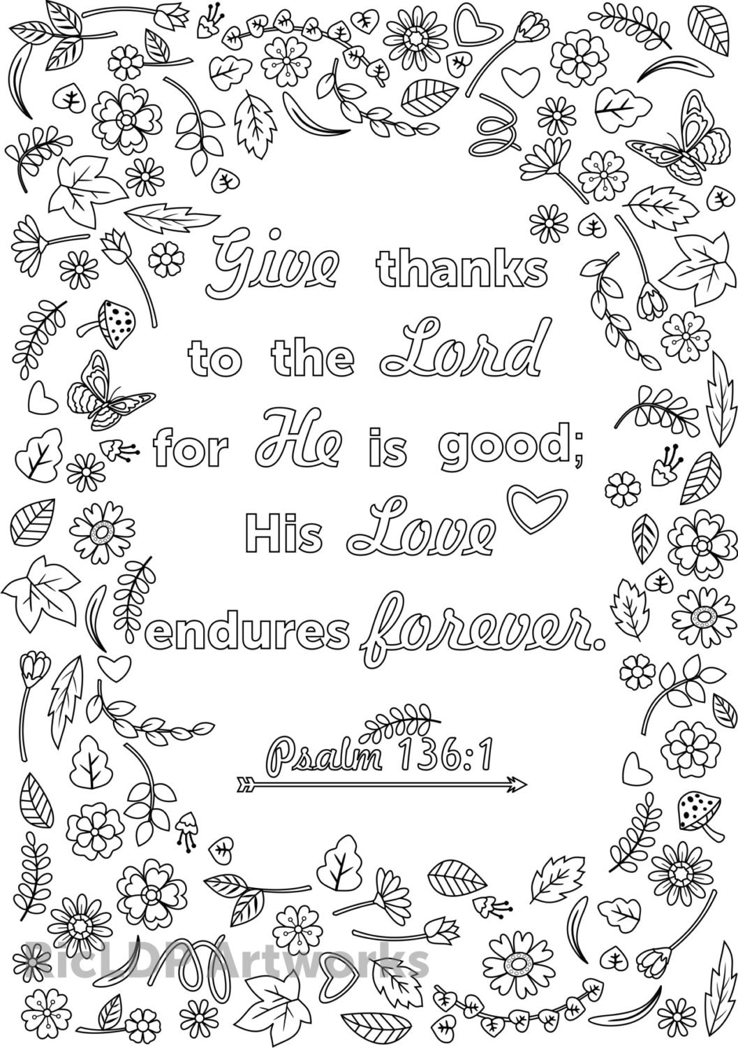 Three Bible Verse Coloring Pages